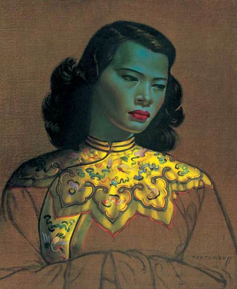 Chinese Green Lady by Vladimir Tretchikoff