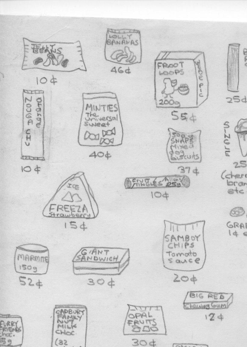 Price of Lollies in 1978 part 2