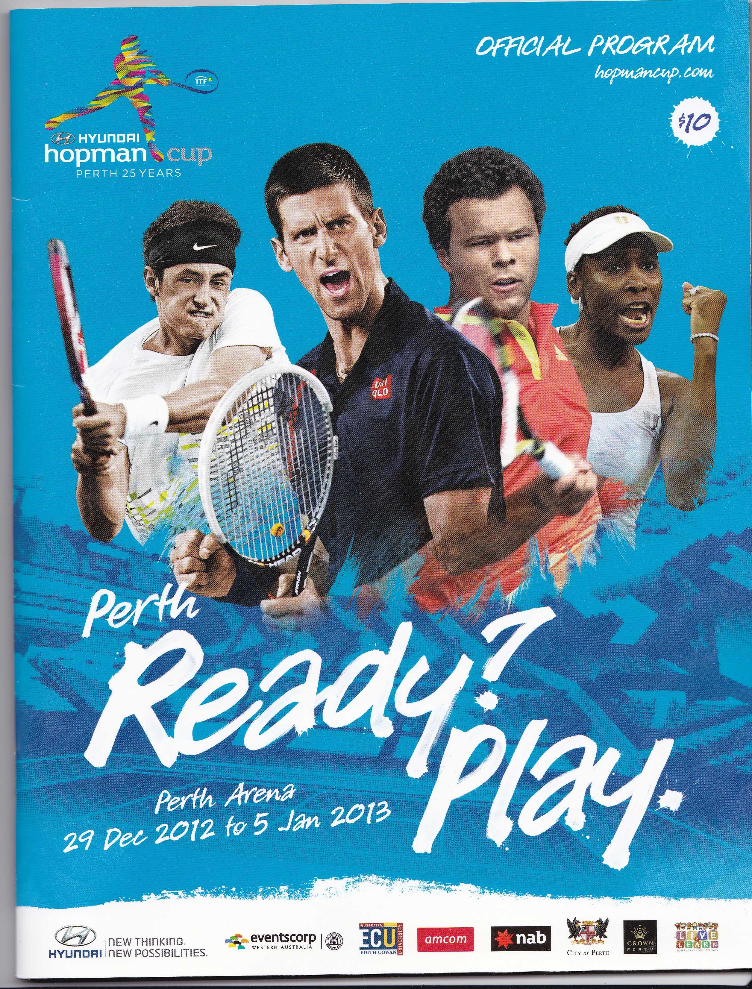Resultado de imagem para perth arena tennis flyer