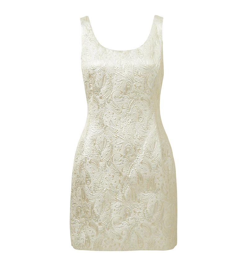 jacquard dress front