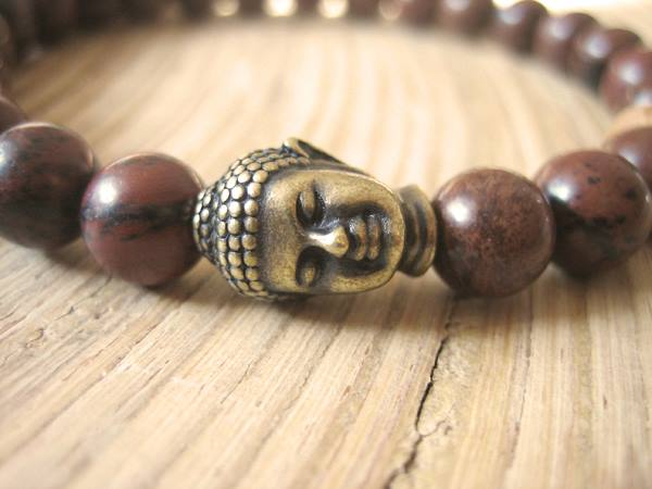 Merkaba Warrior Men's Mahogany Obsidian Bracelet
