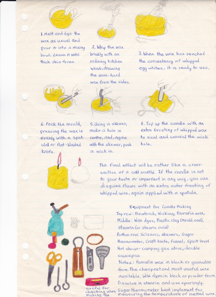 Wax candle making