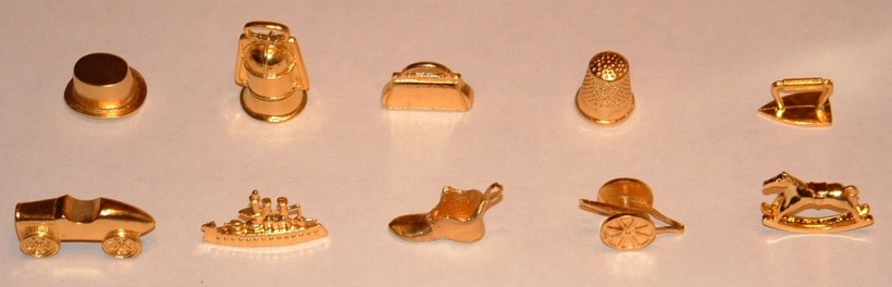Franklin Mint Commemorative Monopoly tokens