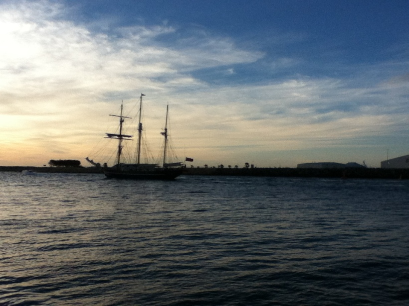 """Tall Ship"" at Fremantle taken 6.20pm, 7/02/2014"