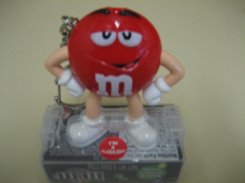 M&M torch keyring