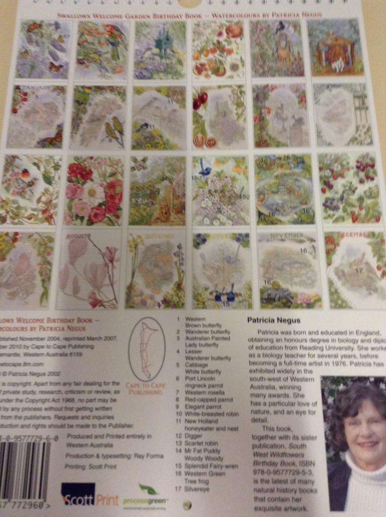 PICS Swallows_Welcome_Garden_Birthday_Calendar