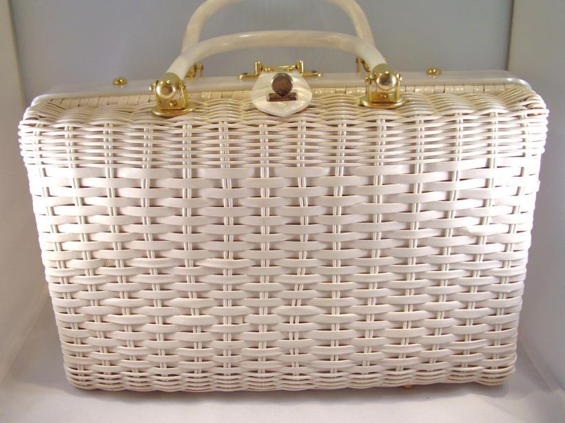 seashell wicker basket