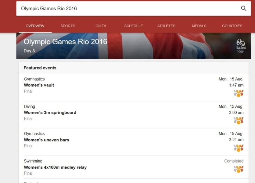 Google Olympics Schedule15082016