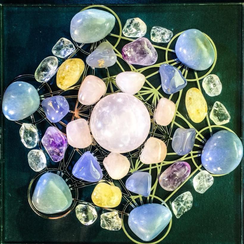 Love and Abundance Crystal grid